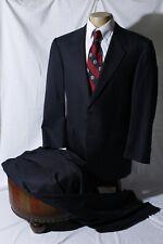 Canali Super 120s Men's Black Striped Ventless 2-Btn Notch Suit Size 44R W32