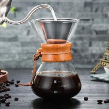 Kaffeemaschine Chemex Stil Kaffeemaschine übergießen Kaffeekanne + Holzkragen