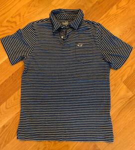 EUC Boys Vineyard Vines Polo Navy Stripes Size Medium (12-14)