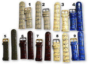 Invicta Watch Band Men's 26 mm Genuine Leather Watch Straps Fits Lupah