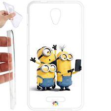 Custodia cover TPU Gel per Alcatel One Touch Pop 4 Plus 5,5 - 070 minion selfie