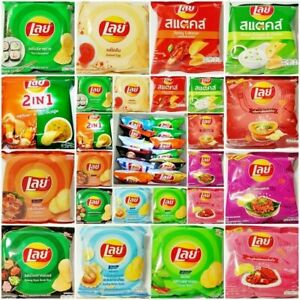 15 Pack MIXES LAYS LAY'S POTATO CHIP FLAVORS FOOD THAI ASIA SNACK YUMMY 13.g