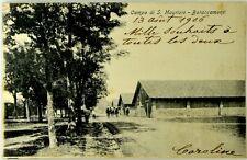 Cartolina Formato Piccolo-Campo Di San Maurizio Canavese- Baraccamenti Viaggiata
