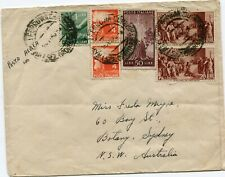 ITALY  1946 cover  st.  air mail from NAPOLI  to  AUSTRALIA
