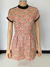 Topshop Ladies Dress, Floral Size Uk 10, Us6 Short, Vgc