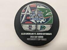 2014 Denver Cutthroats vs Allen Americans puck - last CHL Finals series ever
