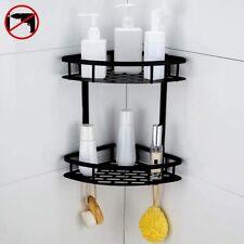 Bathroom Shower Caddy Corner Shelf Storage Organiser Wall Toiletry Holder BLACK