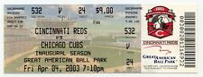 SAMMY SOSA 500 Home Run FULL Box Office Ticket  Cubs Reds  2003  NM