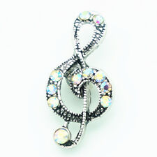 3DCrystal Musical Chunk Charm Snap Button Fit For Noosa Necklace/Bracelet V