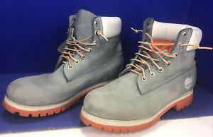 Greenish Gray Timberland boots men SZ 9.5 used