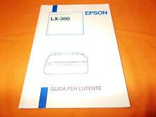epson lx-300 stampante ad impatto guida per l'utente 1995 br. cucita