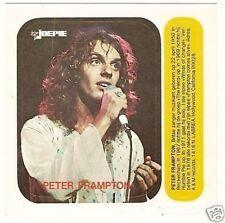 Peter Frampton 1970s Joepie Sticker Card