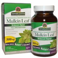 Nature s Answer  Mullein Leaf  500 mg  90 Vegetarian Capsules