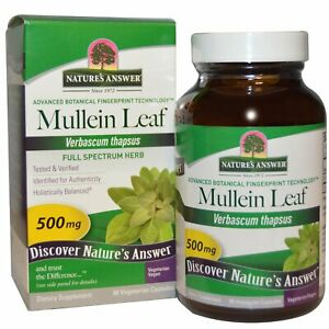 Mullein Leaf, 500 mg, 90 Vegetarian Capsules