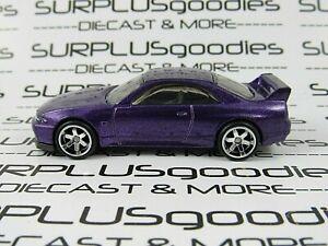 Hot Wheels LOOSE Purple NISSAN SKYLINE GTR GT-R (R33) Custom SUPER w/Real Riders