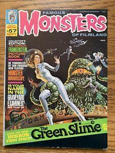 Famous Monsters of Filmland #57 FN Green Slime 1969 Warren
