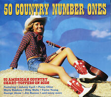 50 COUNTRY NUMBER ONES - 2 CD BOX SET - AMERICAN COUNTRY CHART-TOPPERS