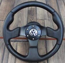 VW Golf Bora Jetta Mk4 B5 Sport Perforated Leather Steering Wheel 320MM Racing