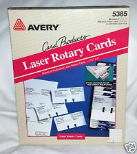 """Avery Small Rotary cards 5385 ~50 SHEETS ~ 400 Total Measures 2 1/6"""" X 4"""""""