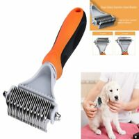 Pet Grooming Brush Comb Shedding Rake Trimming Tool Dog Cat Hair Fur Remove Kit