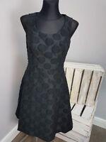 BRAVISSIMO BLACK CASUAL SPOTTY DRESS BY PEPPERBERRY (90)