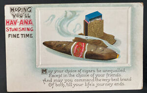 Mint USA Advertising Picture Postcard Havana Cigars Tobacco