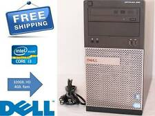 Dell OptiPlex Desktop PC Intel Core i3-2120 3.3GHz 2nd Gen 4GB 320GB HD Win 7