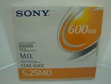 Sony MO Media EDM-600C 600MB RW 512k b/s *NEW* Factory Sealed 1 Piece EDM-600B