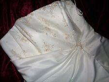 NEW David's Bridals Strapless a-line Wedding Dress size 24w Ivory /Rum