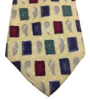 """Brandini Men's Silk Geometric Designer Dress Suit Necktie Tie, 62"""" x 4"""""""