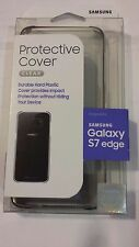 NEW Original Samsung Galaxy S7 edge Protective Cover -Clear / Silver +Free Ship!