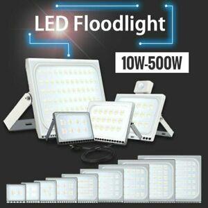 LED Fluter mit Bewegungsmelder/Stecker Außen Strahler 10W-500W SMD Scheinwerfer