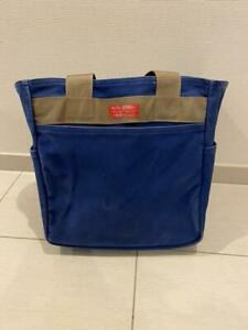 FILSON RED LABEL MADE IN USA Indigo x Beige Cotton Tote Bag USED