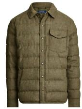 Polo Ralph Lauren Glen Brown Quilted Down Jacket  Bomber XL Mens