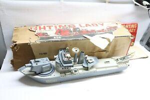 Used Vintage Remco Fighting Lady Motorized Assault Battleship Model 710 W/ Box