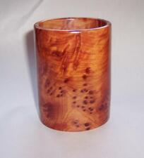 Vintage ART DECO Style Wooden BURR Burl WOOD PENCIL POT Box