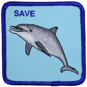 """Goorin Bros® Patch - Save the Dolphins, The Farm Limited Edition 2.75"""" (Iron on)"""