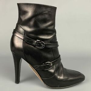JIMMY CHOO Size 8.5 / IT 38.5 Black Leather Ankle Boots