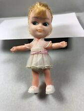 Vintage Bendable Blonde White Party Dress Liddle Little Kiddles Clone Hong Kong