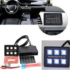 12V 6 Output LED Touch Button Switch Panel Car Boat Truck Smart Control Board
