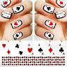 Art Pour Les Ongles Décalco À L'eau Transferts Poker Aces Cartes À Jouer Casino