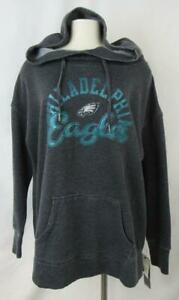 Philadelphia Eagles Womens X-Large Screened Pullover Hooded Sweatshirt AEAG 221
