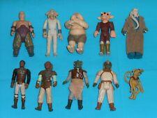 vintage STAR WARS FIGURE LOT #207 Klaatu Ree-Yees Rancor Keeper Lando Skiff