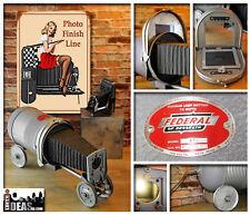Vintage Federal Photo Enlarger Upcycled Race Car Novelty Mancave Antique Light