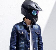 Motocross Open Full Face Helmet Motorcycle Dirt Bike Helmets With Goggles Black M