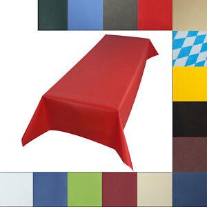 Sensalux Tischdecke abwaschbar, Farbe + Größe wählbar Bierzeltgarnitur Biertisch