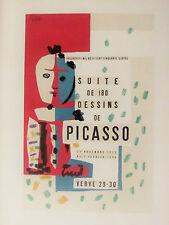 -PICASSO - SUITE DE 180 DESIGNS - ORIGINAL LITHOGAPH - 1954 - FREE SHIP IN US !!