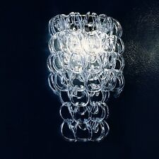 Vistosi Minigiogali applique formato da ganci in cristallo trasparente