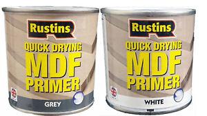 Rustins Quick Drying MDF Primer Grey & White 250ml 500ml Interior & Exterior Use