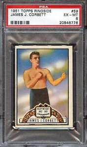 1951 TOPPS RINGSIDE #59 JAMES CORBETT PSA 6  *DS7187